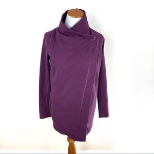 Lululemon Restore Wrap Purple Sweater Jacket